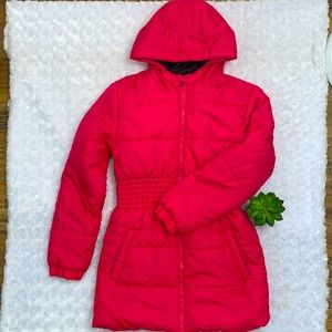 Cherokee Pink Extra Long Snow Jacket Size 10/12